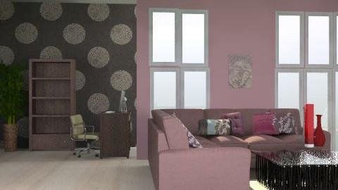 purple living room - Modern - Living room - by SarahLou