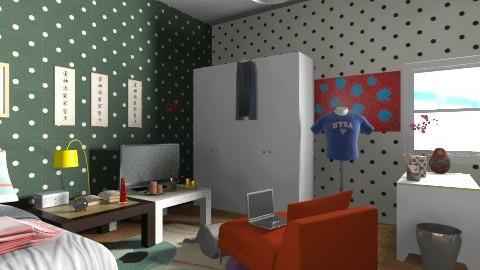 bedroom - Retro - Bedroom - by morele