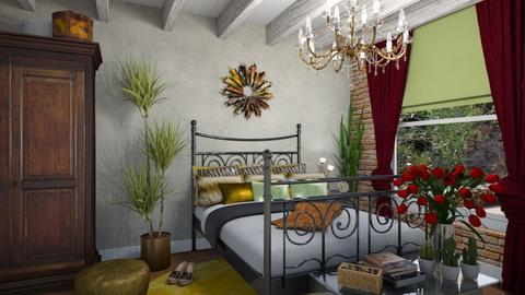 Boho bedroom - Bedroom - by JM Krab