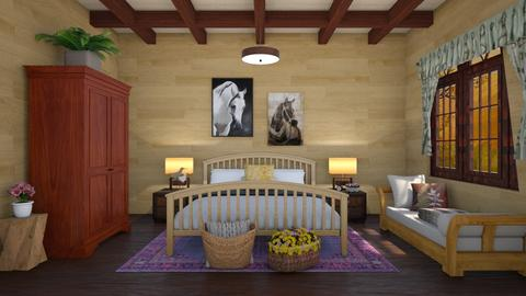 Wooden cabin - Country - Bedroom - by QueenOfDiamonds