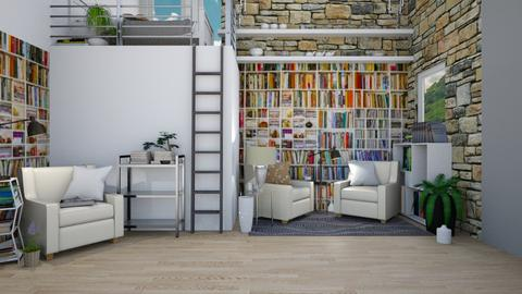 Book Nook - Rustic - Living room - by Isaacarchitect