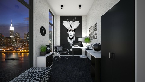 Black and White Office - Office - by VeroDale