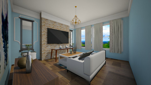 Light Blue - Modern - Living room - by MNOP