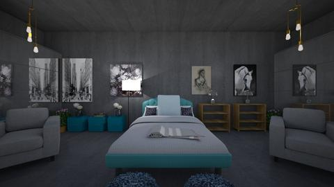Callies Chic Teal Room - Bedroom - by Makena Holdaas