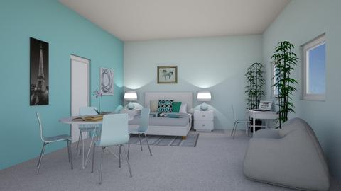 Girls Blue Bedroom - Modern - Bedroom - by millerfam