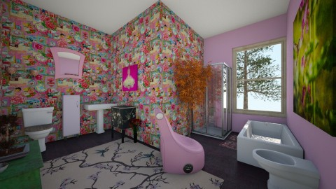 Kitsch bathroom - Bathroom - by CAMPBC31