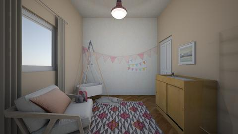 Pink Nursery - Rustic - Kids room - by Ster