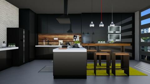 Dark Kitchen - Kitchen - by Mihailovikj Mimi