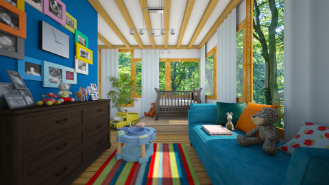 wood house nursery - Kids room - by ANAAPRIL