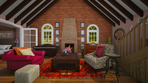 country house - Country - Living room - by Vivi fauziaah