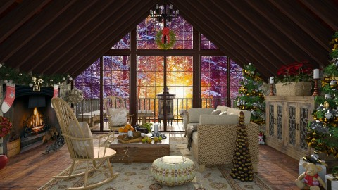 Design 232 Christmas Morning - Living room - by Daisy320