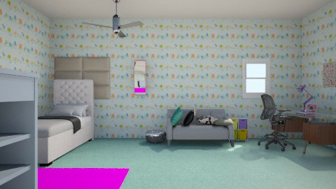 diy girl room - Bedroom - by andiegriffin