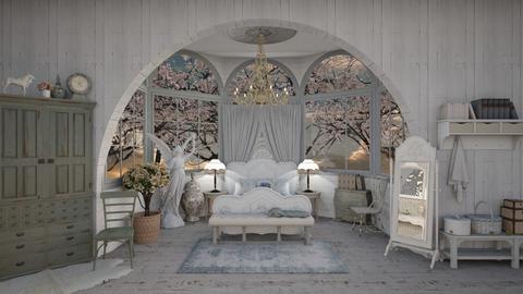 Shabby Chic Light Bedroom - Bedroom - by AlocinB
