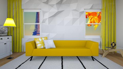 Simply Golden - Living room - by mkolivier