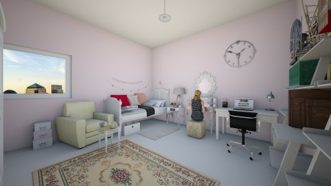 Feminin room teens - Bedroom - by kimiia Sadeghi