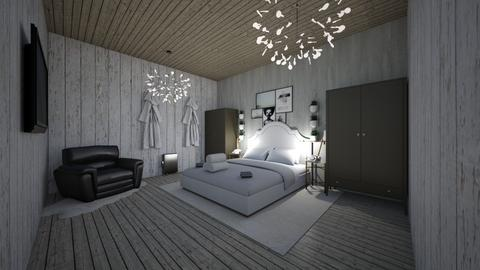 Hotel Suite - Minimal - Bedroom - by Okurrrr