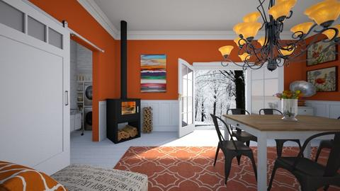 Orange - Dining room - by sissybee