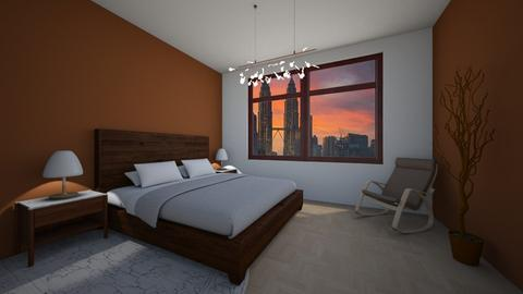 Brown wood - Classic - Bedroom - by Twerka