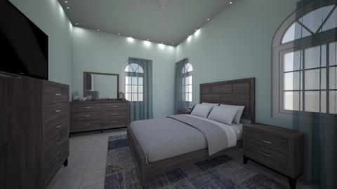 GreyAndTealTeenageRoom - Classic - Bedroom - by jade1111