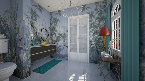 Powder Room - Eclectic - Bathroom - by AlSudairy S