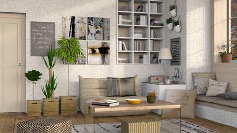 Neutrals 6 - Living room - by Sally Simpson