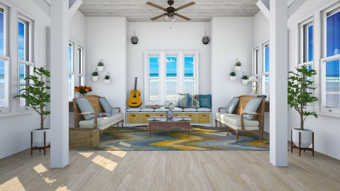 Beaching the feeling - Country - Living room - by Faye Dela Cruz