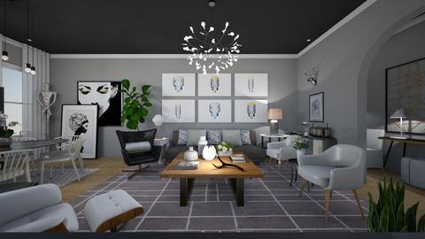 shades of grey - Living room - by dadearin