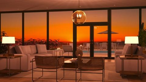 Tequila Sunset - Living room - by GraceKathryn