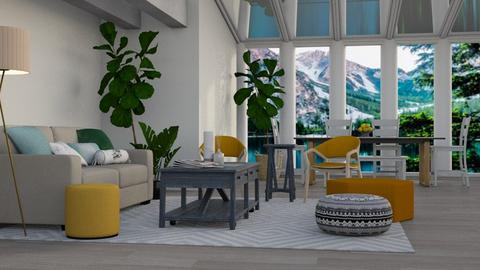 Yellow Chairs - Modern - Living room - by millerfam