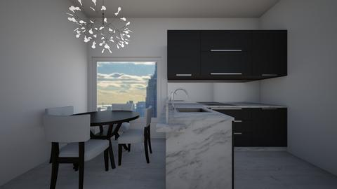 marble black and white  - Modern - Kitchen - by jade1111