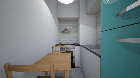Small Apartment Kitchen - Kitchen - by SammyJPili