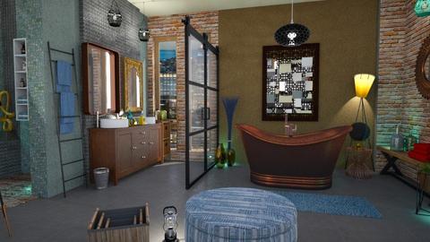 eclectic bathroom 2 - Bathroom - by Moonpearl