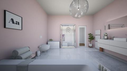 white and pink bathroom - Bedroom - by shanae1234