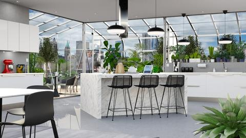 Urban Jungle Kitchen - Kitchen - by GraceKathryn