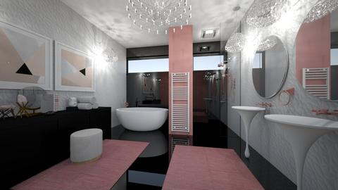 Black and White and Pink - Glamour - Bathroom - by Kit Bramble