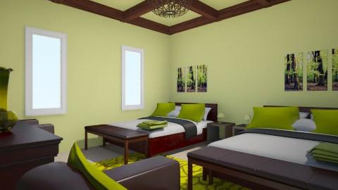 Hotel Room - Bedroom - by kittyxo338