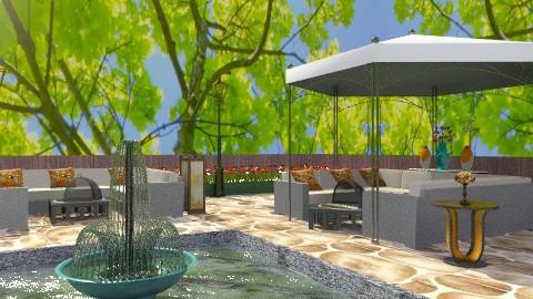Outdoor living room - Country - Garden - by wiljun