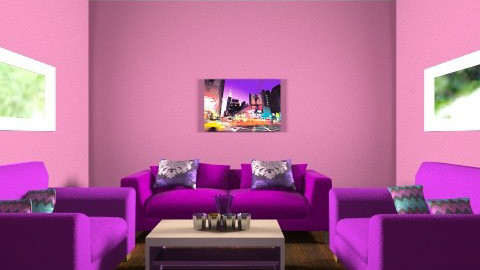 purple is cool - Glamour - Living room - by mary_01