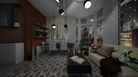 xmas - Living room - by Grigoria Popli