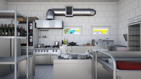 Small Restaurant Kitchen - Modern - Kitchen - by HenkRetro1960