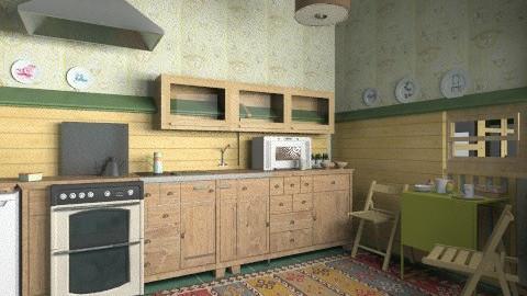Mini  kitchen - Retro - Kitchen - by milyca8