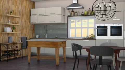 Mixed woods  - Modern - Kitchen - by augustmoon
