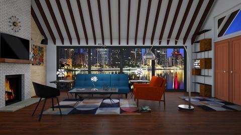 Mid Century Modern LR 2 - Living room - by Kelly Carter