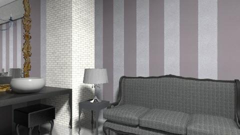 black chandelier view 04 - Bathroom - by decoart