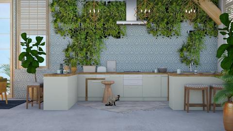 bu - Modern - Kitchen - by NEVERQUITDESIGNIT