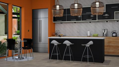 Orange Modern Kitchen - by SZdesing