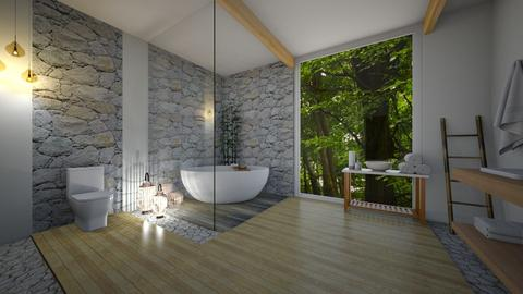 cabin in a forest - Bathroom - by erladisgudmunds