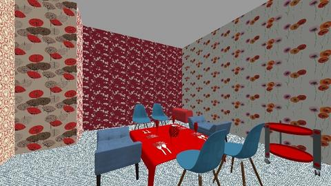 red red red  - Modern - Dining room - by in3213