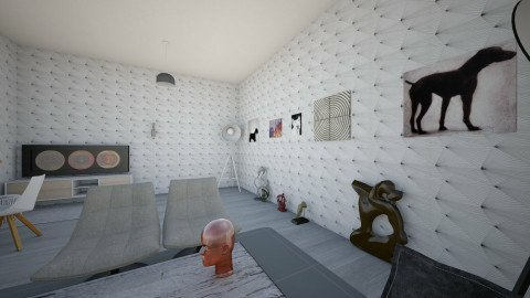 Agata Malinowska - Glamour - Living room - by Agata Malinowska