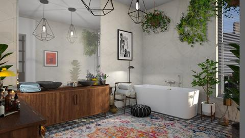 boho bathroom - Bathroom - by bnu